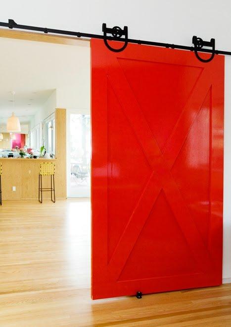 Bestor+architecture+red+barn+interior+door+sliding+modern+home